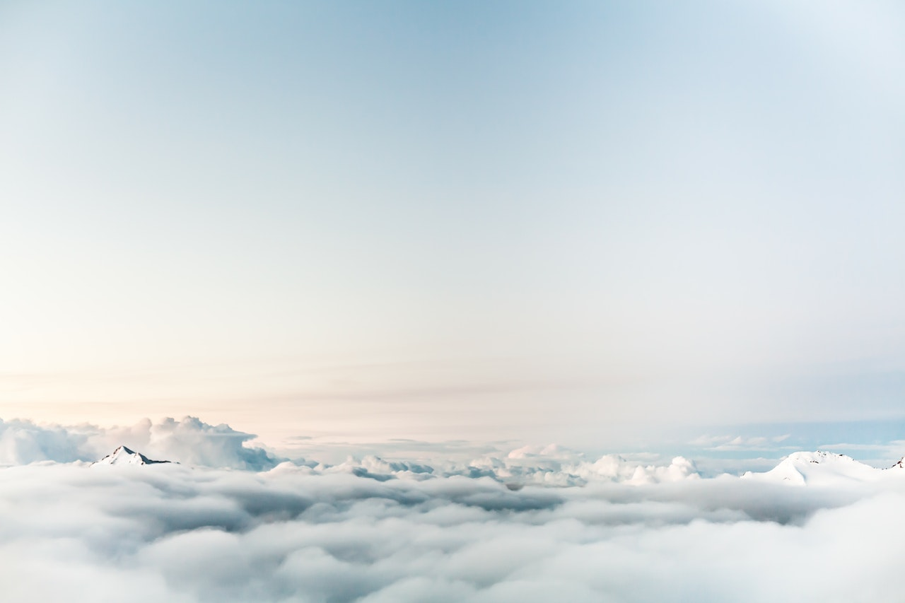 above atmosphere clouds