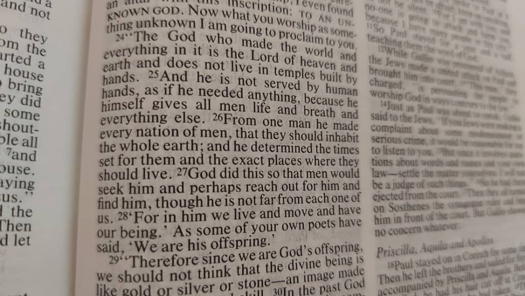 Acts 17:24-28