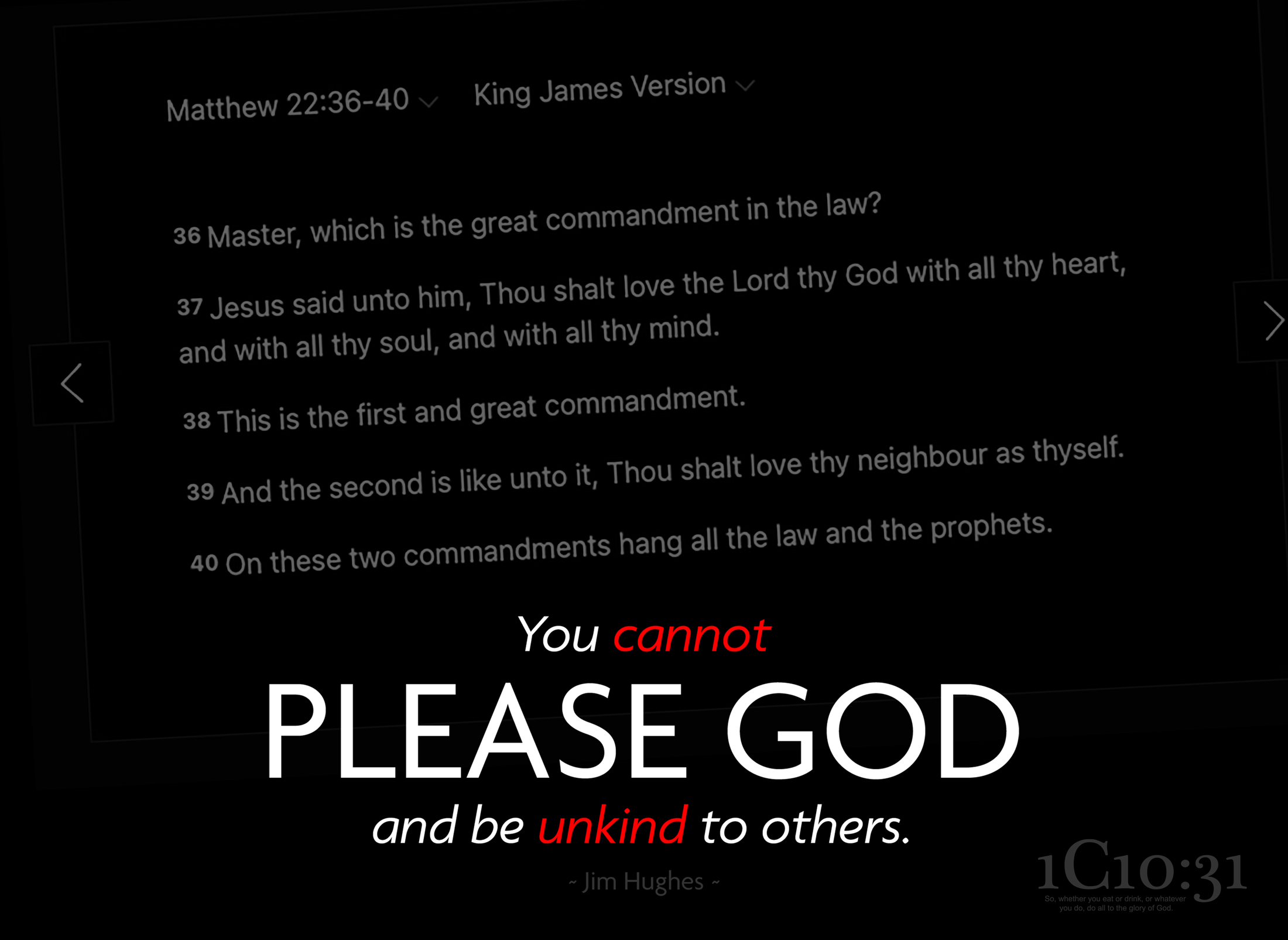 You Cannot Please God And Be Unkind To Others