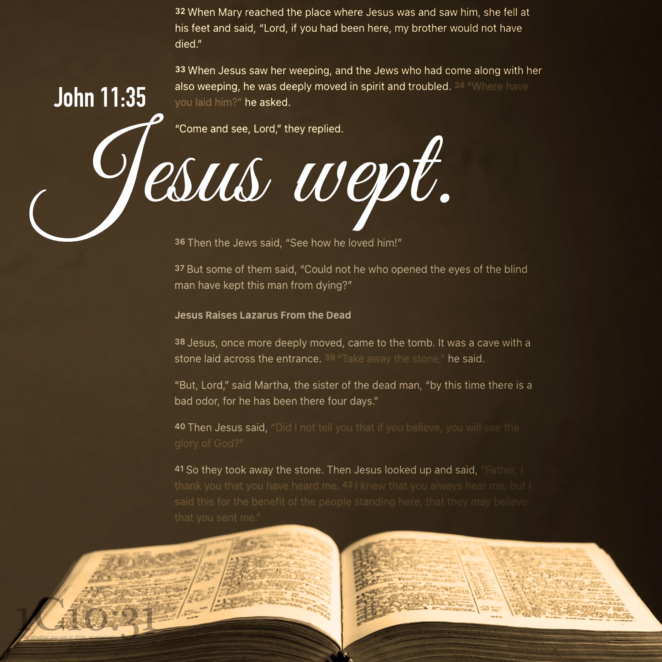 John 11:35