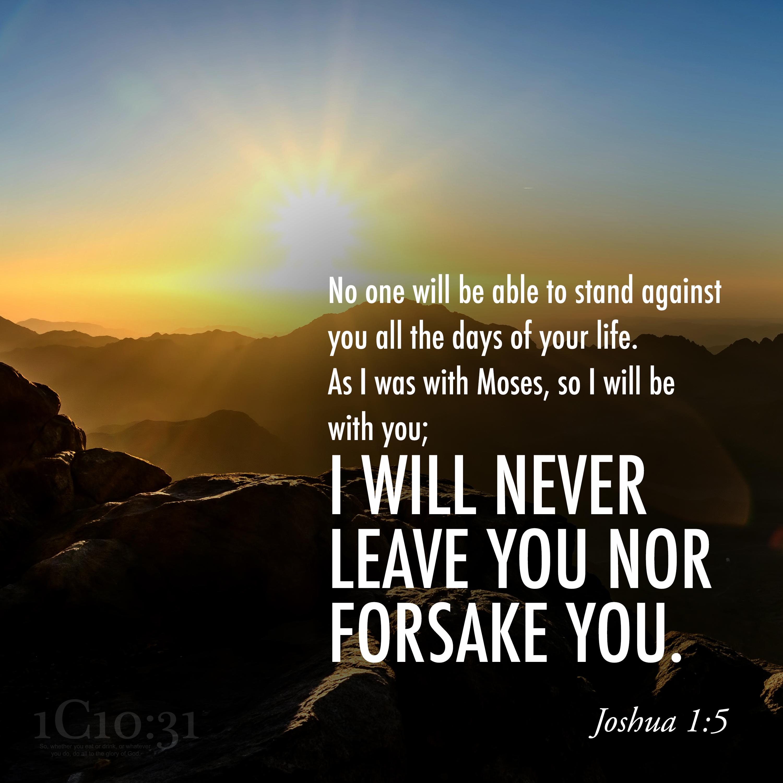 Joshua 1:5
